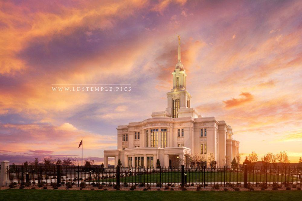 Payson Temple Sunset Southwest Lds Temple Pictures