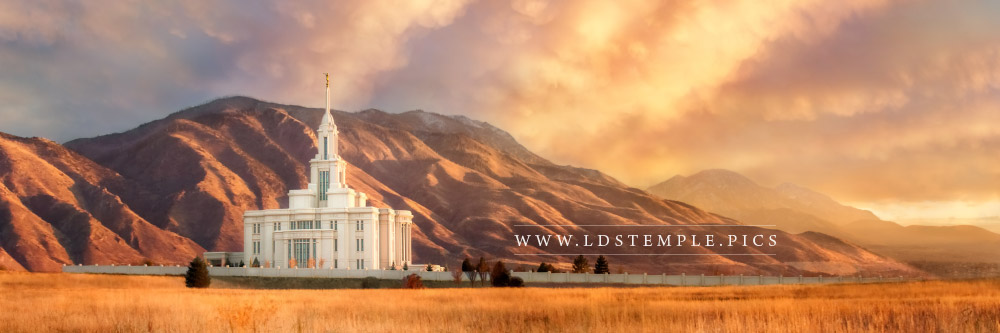 Payson Temple Harvest Sunset Panoramic Print