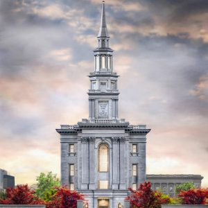 philadelphia-temple-autumn-sunset-painting