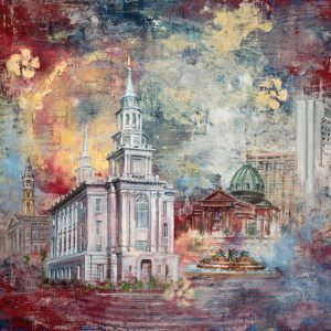 philadelphia-temple-cold-wax-oil-painting