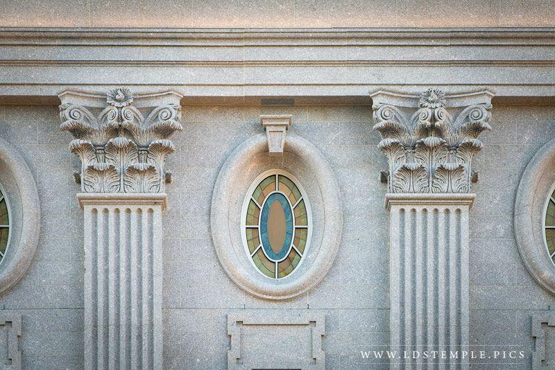 Window details of the Philadelphia Temple