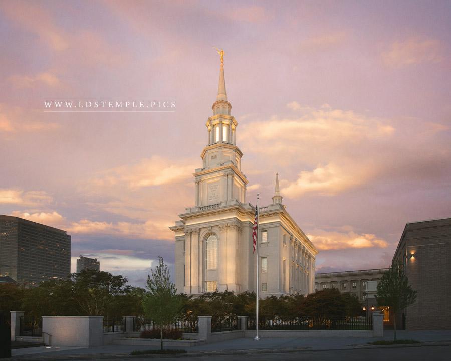 Philadelphia Temple September Skies Print