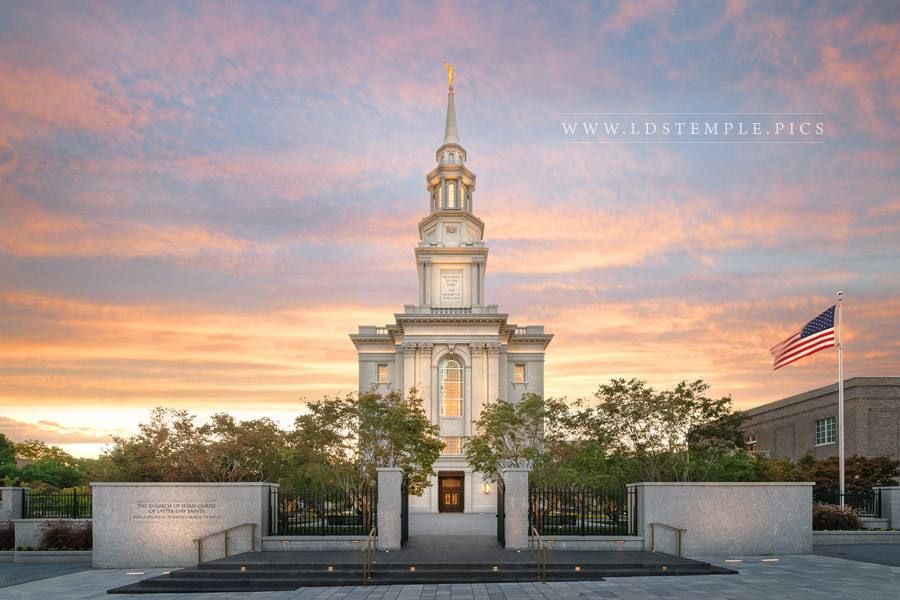 Philadelphia Temple Sunset Glow Print