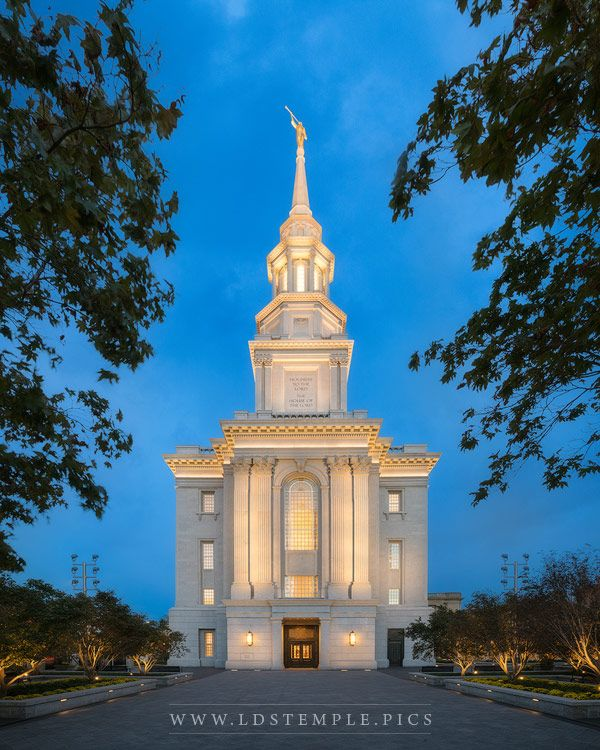 Philadelphia Temple Twilight Print