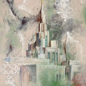 phoenix-temple-cold-wax-oil-painting
