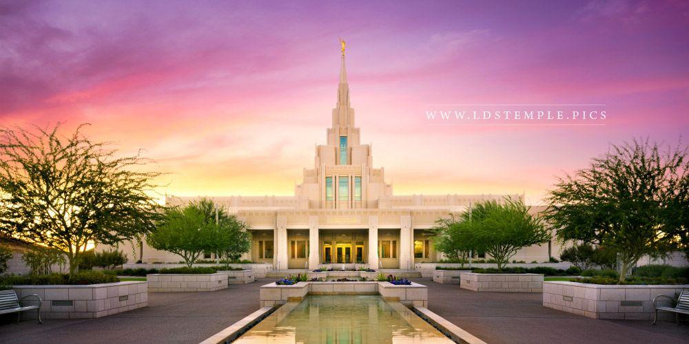 Phoenix Temple Pastel Sunset Panoramic Print