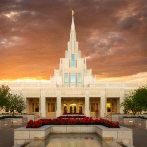 phoenix-temple-reflecting-pool-sunset-vertical