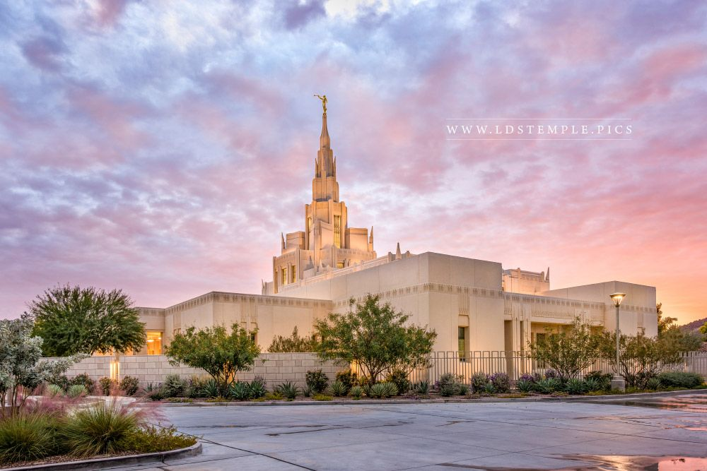 Phoenix Temple Sunset Burst Print