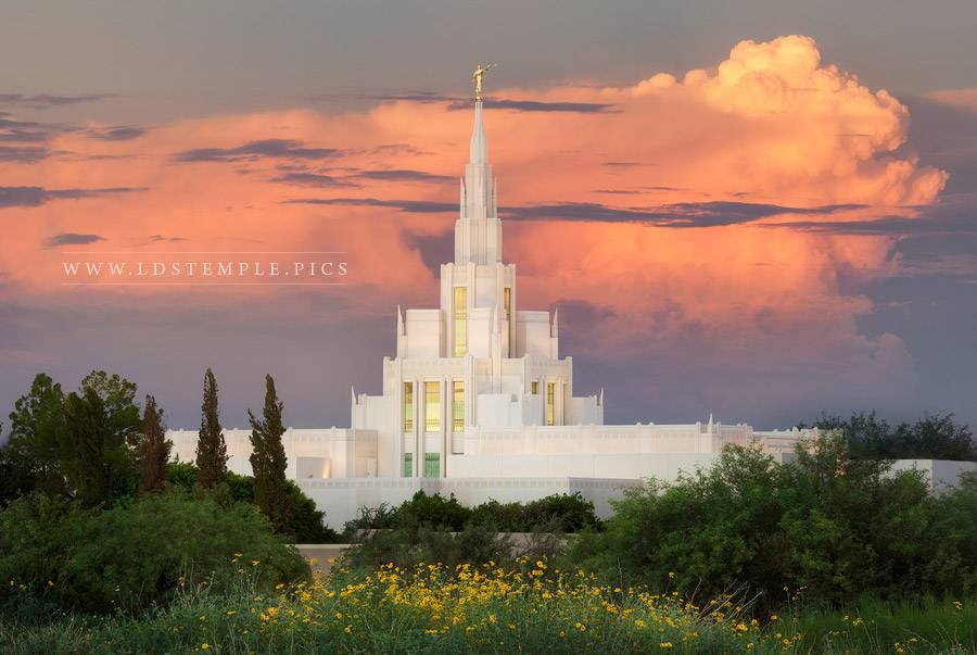Phoenix Arizona Temple Sunset Northeast Print