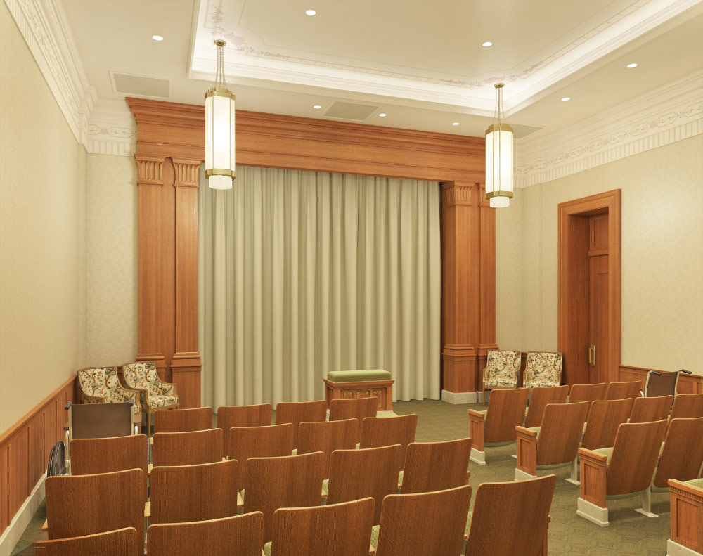 Pocatello Idaho Temple Endowment Room Rendering
