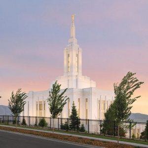 pocatello-temple-evening-glow
