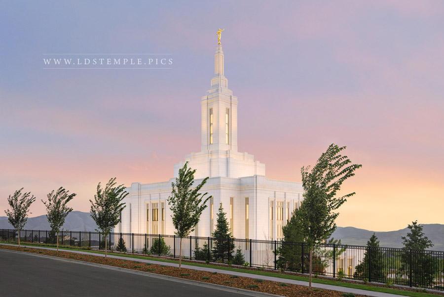 Pocatello Temple Evening Glow Print