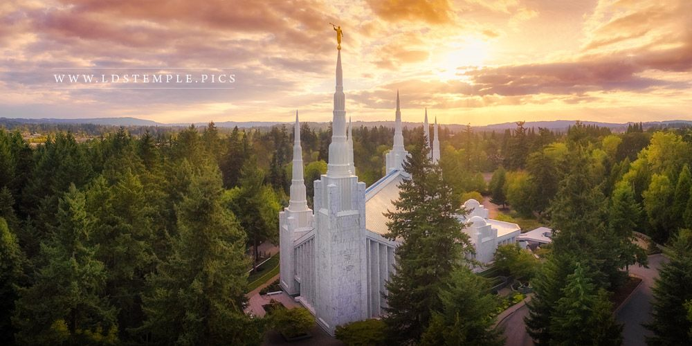 #7: Portland Temple – From On High