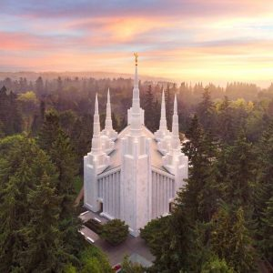 portland-temple-aerial-sunset