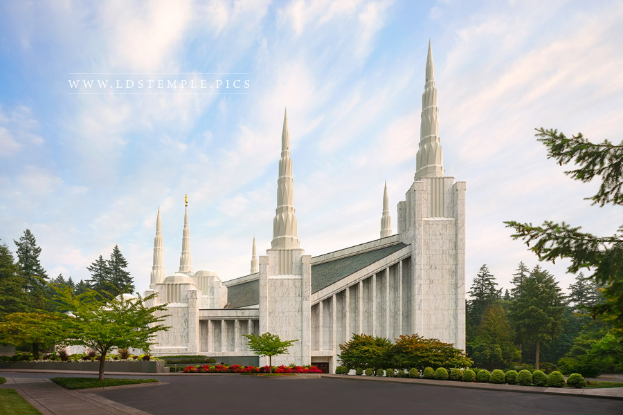 Portland Temple Afternoon Glow Print