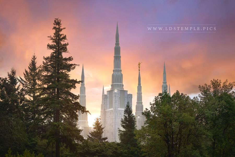 Portland Temple Eternal Heights Print