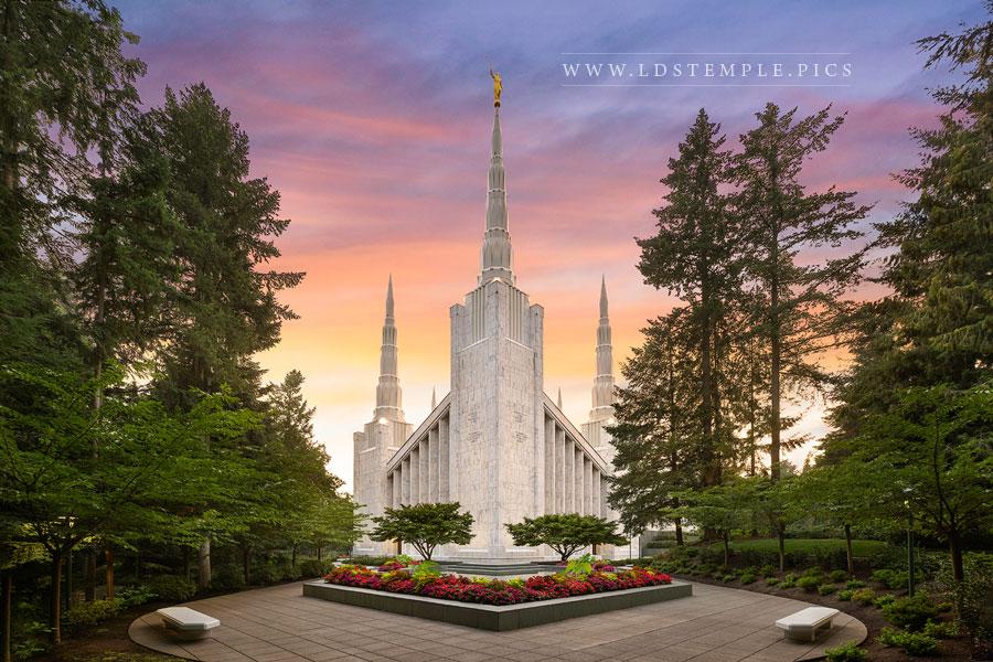 Portland Temple Evening Peace Print