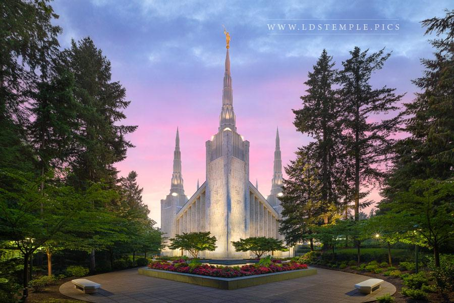 Portland Temple Fading Light Print