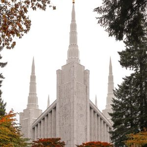 portland-temple-fall-leaves