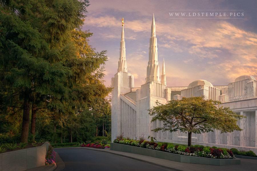 Portland Temple Spires Print