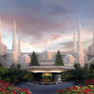 portland-temple-summer-sunset-painting