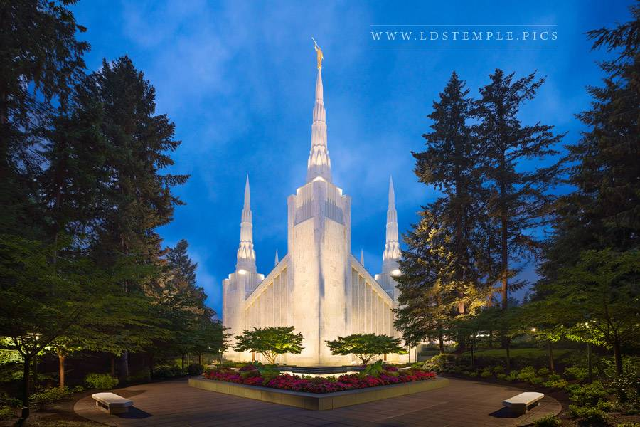 Portland Temple Twilight Print