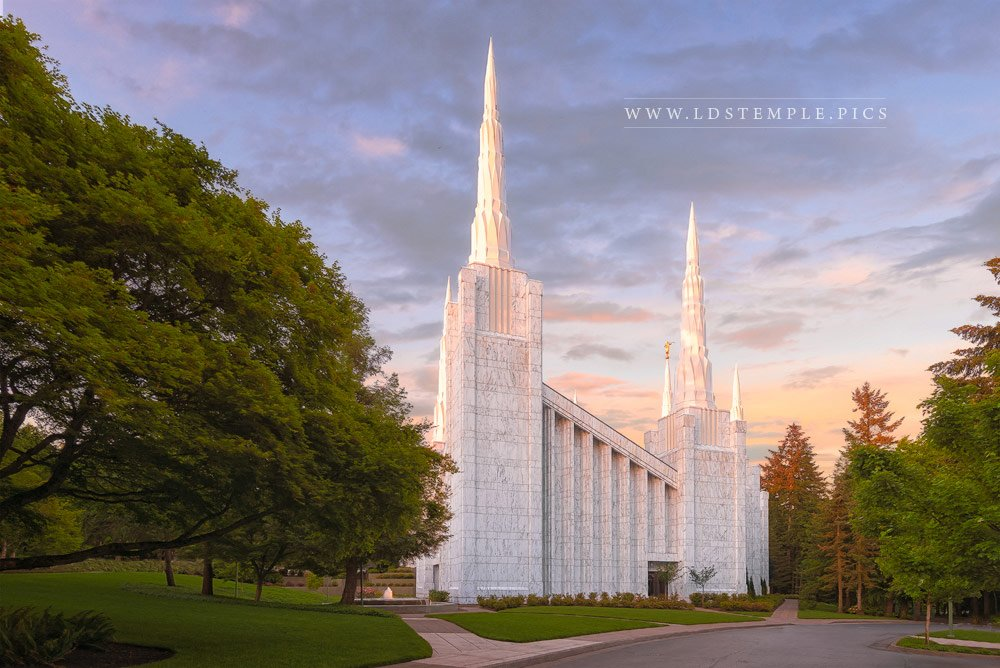 Portland Temple West Side Print