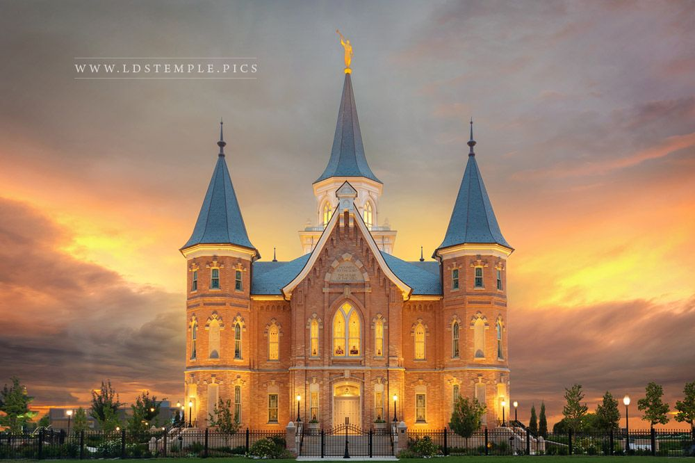 Provo City Center Temple Burning Sky Print