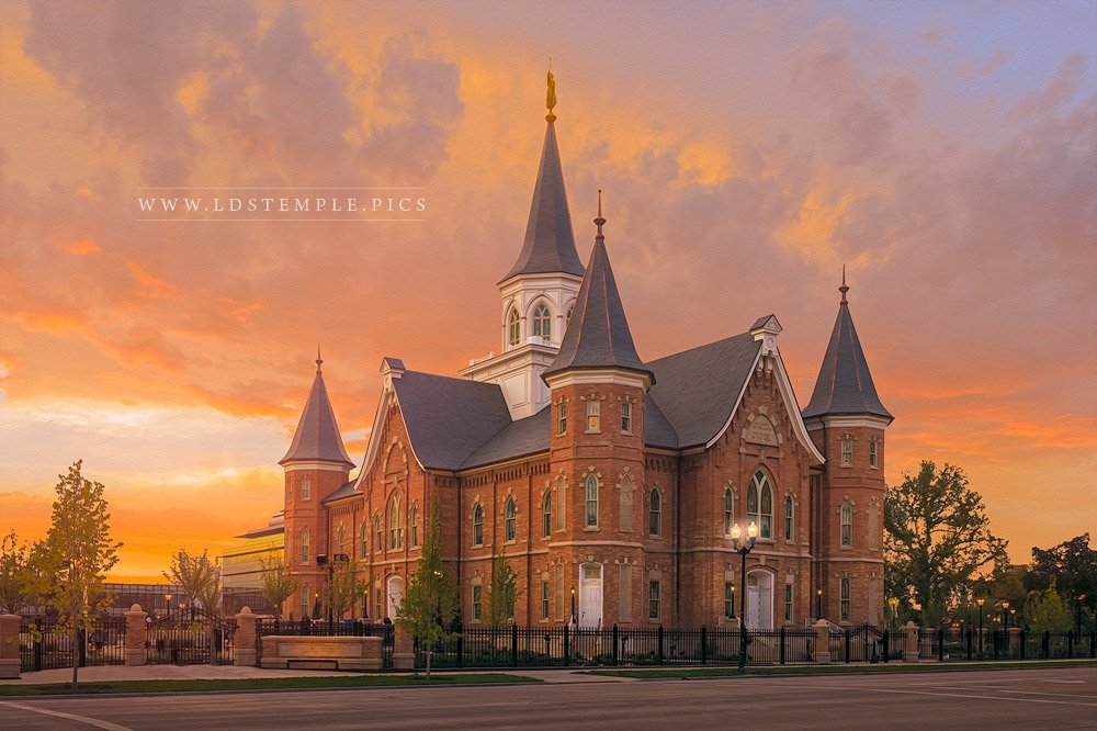 Provo City Center Temple Embers Of Faith Print