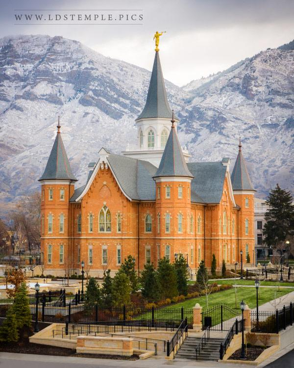Provo City Center Temple First Snow Lds Temple Pictures