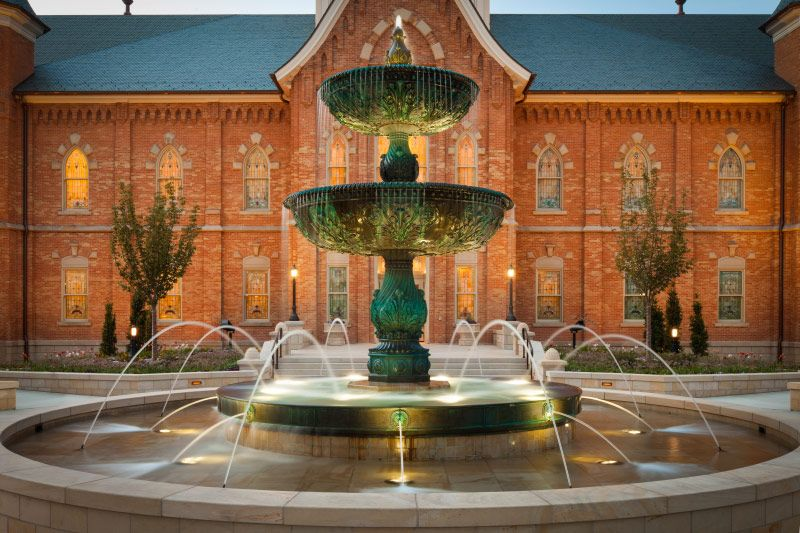 Provo City Center Temple Fountain