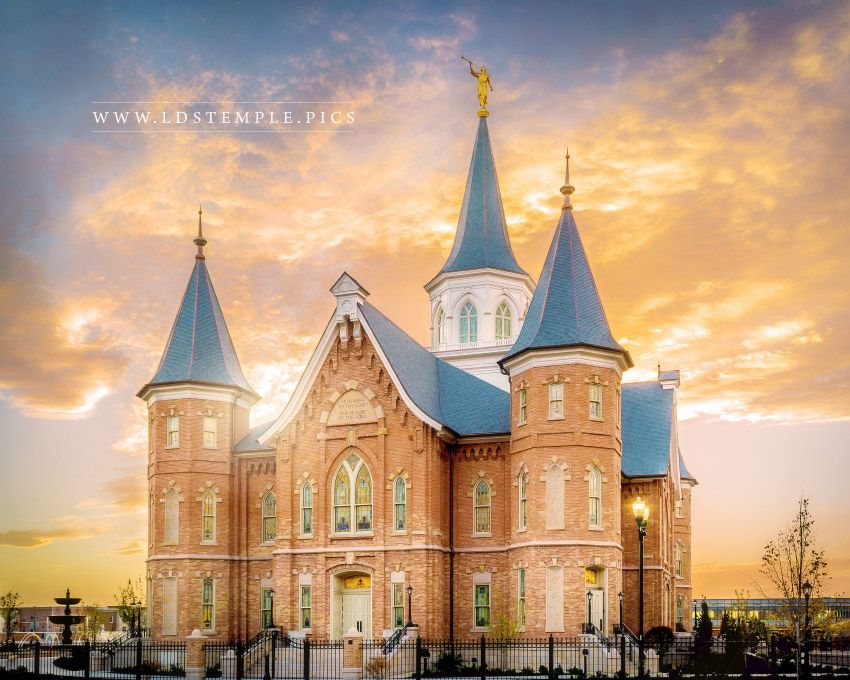 Provo City Center Temple Front Sunset Print