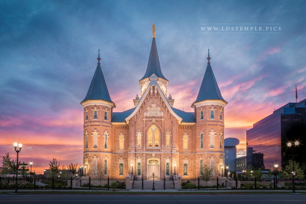 Provo City Center Temple Glory Of Second Chances Print
