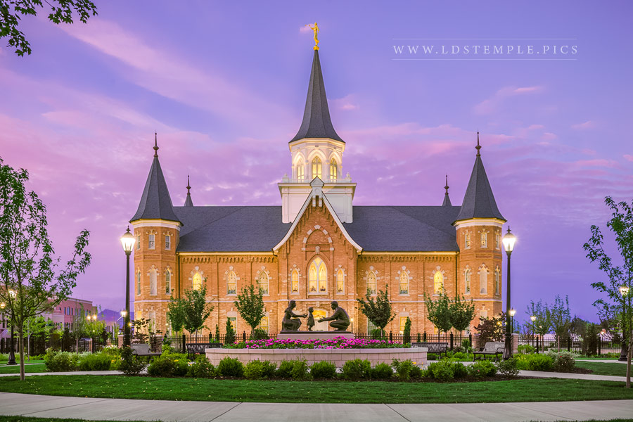 Provo City Center Temple His Love Endureth All Things Print
