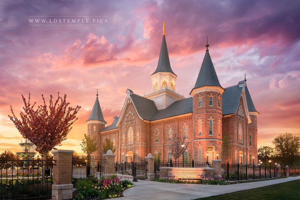 Provo City Center Temple Like A Fire Is Burning Print