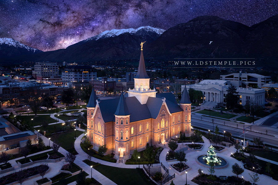 Provo City Center Temple Eternal Creations Aerial Print