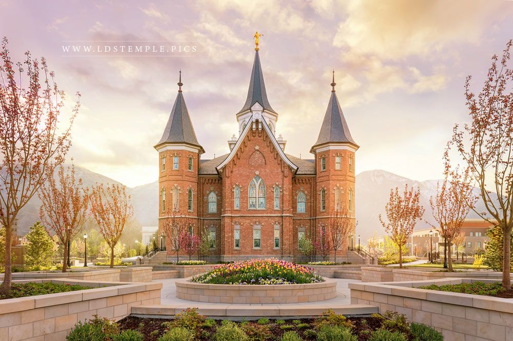 Provo City Center Temple Spring Sunrise Print