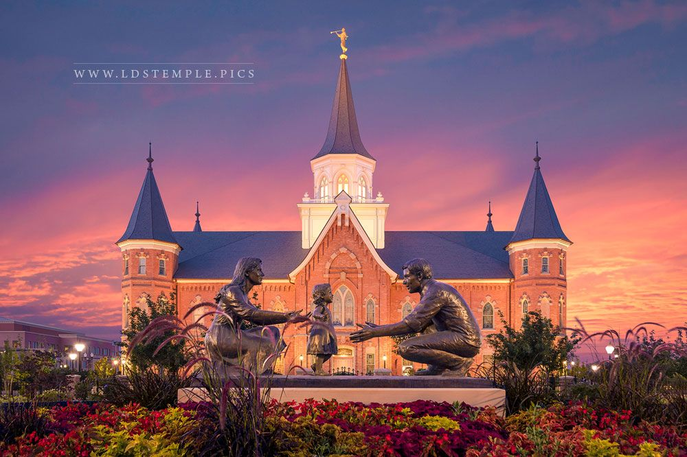 Provo City Center Temple Summer Peace Print
