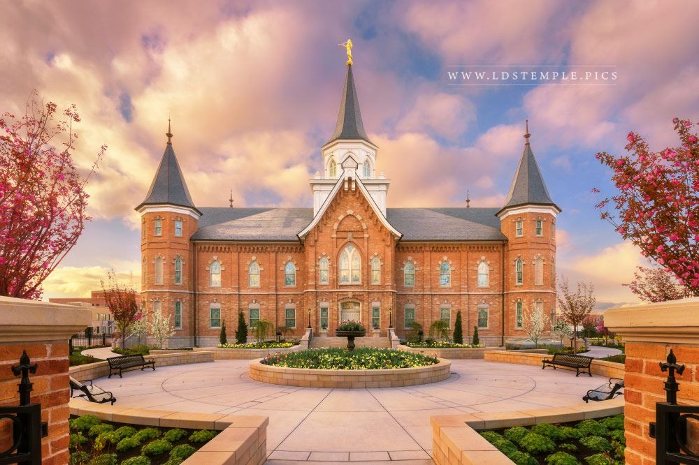 Provo City Center Temple Sunrise South Print