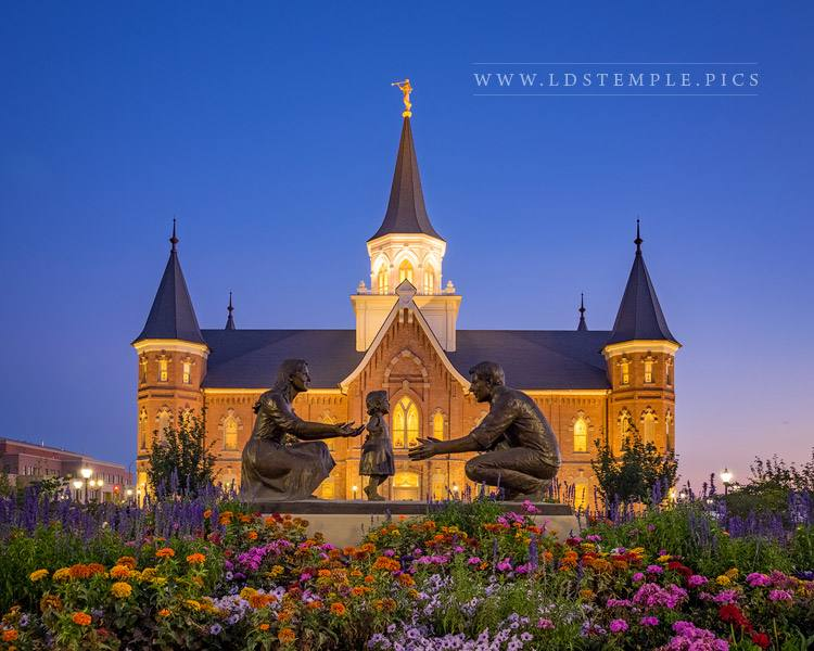 Provo City Center Temple Teach Me To Walk In The Light Print