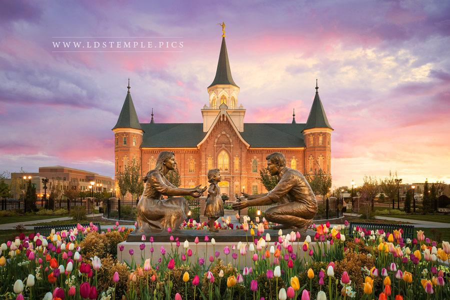 Provo City Center Temple Together Forever Print