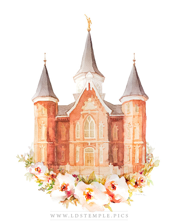 Provo City Center Temple Watercolor Painting Print
