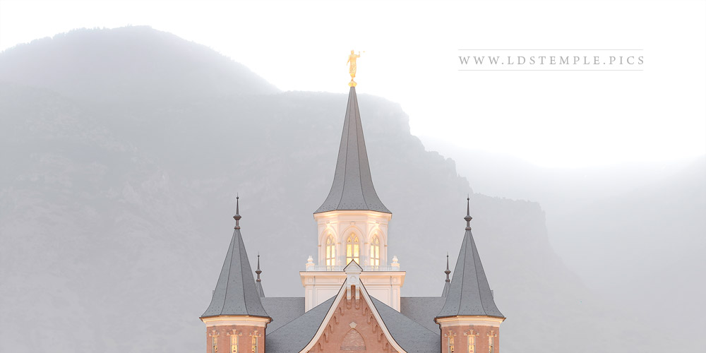 Provo City Center Temple Winter Fog Print
