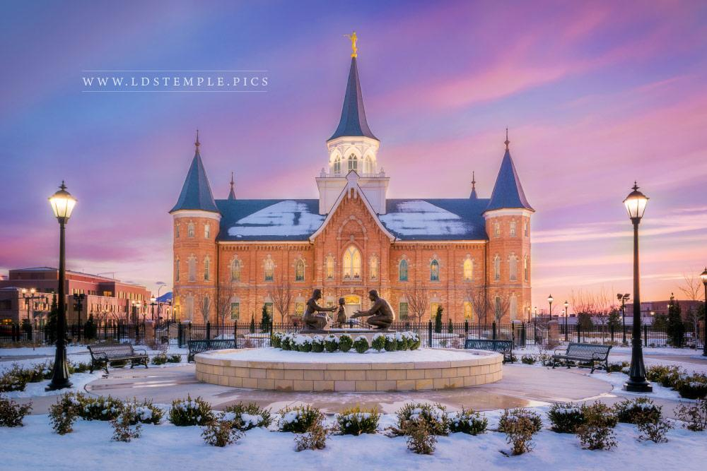 Provo City Center Temple Winter Sunset South Lds Temple