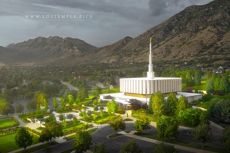 Provo Temple A Place of Refuge Print