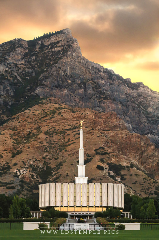 Provo Temple Cliffs Print