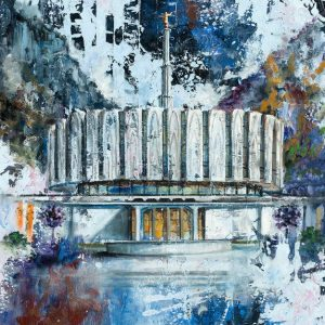 provo-temple-cold-wax-oil-painting