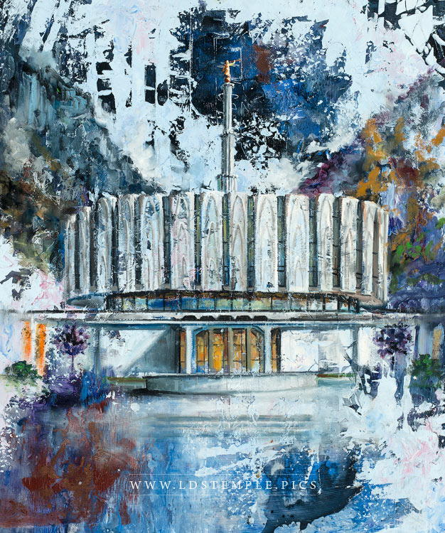 Provo Temple Oil Painting Print