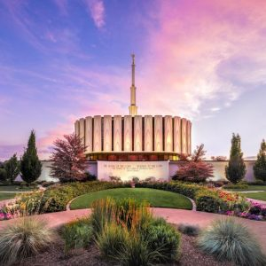 provo-temple-garden-sunset