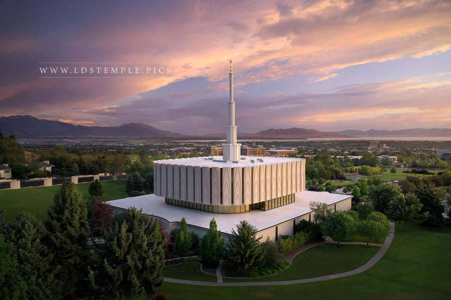 Provo Temple Heavenly Skies Print